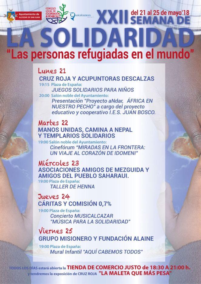 """Semana Solidaridad Alcázar de San Juan """"Las Personas Refugiadas en el Mundo"""""""